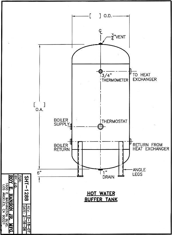 Buffer Water Tanks Asme Water Tanks 125 Psig Hot Water